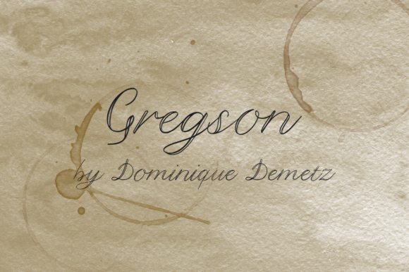 Print on Demand: Gregson Decorative Font By Dominique Demetz - Image 1