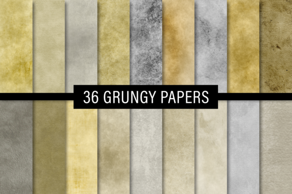 Print on Demand: Grungy Papers Graphic Textures By JulieCampbellDesigns - Image 1