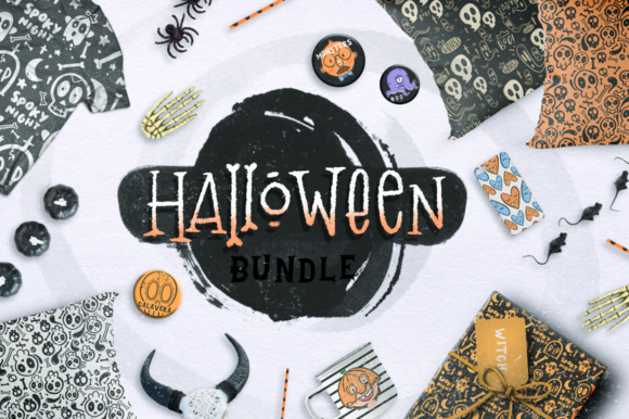 Print on Demand: Halloween BUNDLE + 150 ELEMENTS! Graphic Illustrations By Latin Vibes