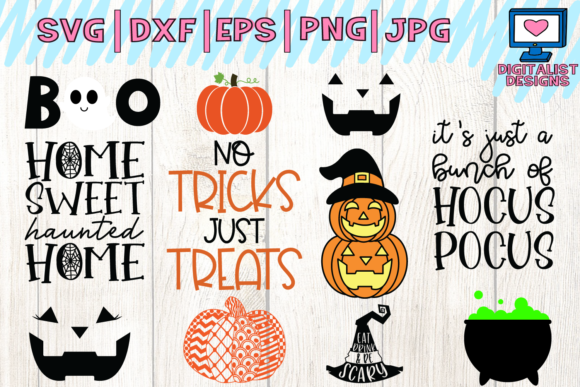 Download Free Halloween Quotes Bundle Graphic By Digitalistdesigns Creative for Cricut Explore, Silhouette and other cutting machines.