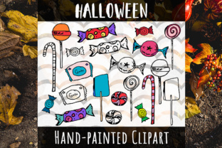 Download Free Halloween Candy Hand Painted Sweets Clipart Grafik Von Vector for Cricut Explore, Silhouette and other cutting machines.