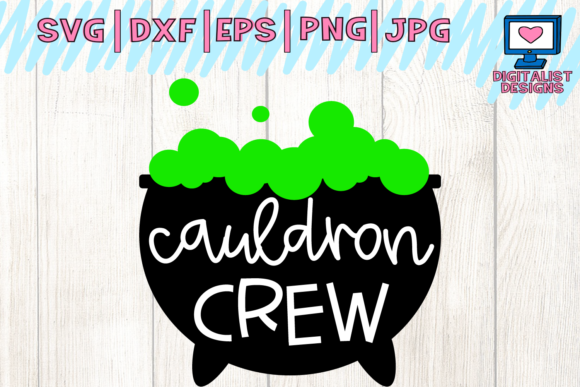 Download Free Halloween Cauldron Crew Witch Svg Graphic By for Cricut Explore, Silhouette and other cutting machines.
