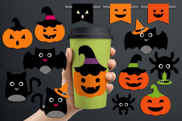 Print on Demand: Halloween Decor Ornaments Graphic Illustrations By Revidevi