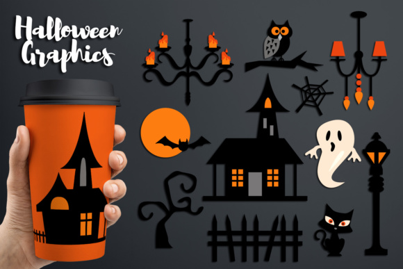 Print on Demand: Halloween Haunted House Graphic Illustrations By Revidevi
