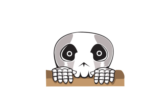 Halloween Little Skeleton Vector Graphic Illustrations By RFG