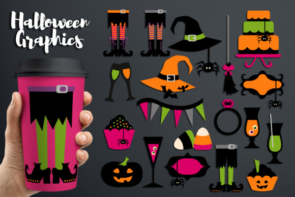 Print on Demand: Halloween Party, Witch Feet and More Graphic Illustrations By Revidevi