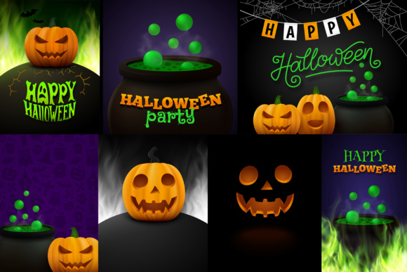Halloween Posters Set Graphic By Yurlick Image 2