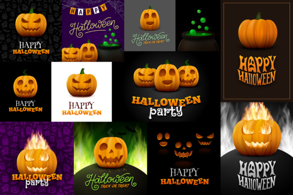 Halloween Posters Set Graphic By Yurlick Image 3