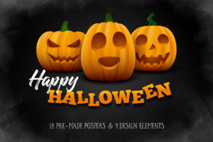 Halloween Posters Set Graphic By Yurlick