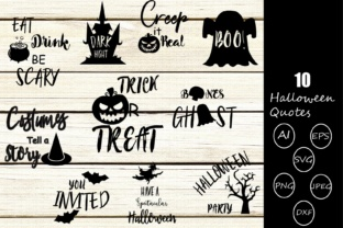 Halloween Quotes Graphic By yamini