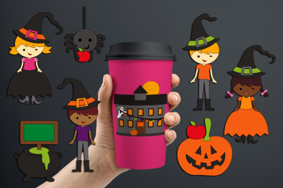 Print on Demand: Halloween School Party Graphic Illustrations By Revidevi