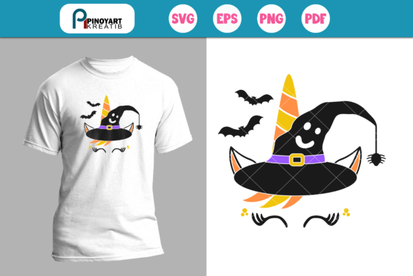 Halloween Unicorn SVG Graphic By Pinoyartkreatib Image 1