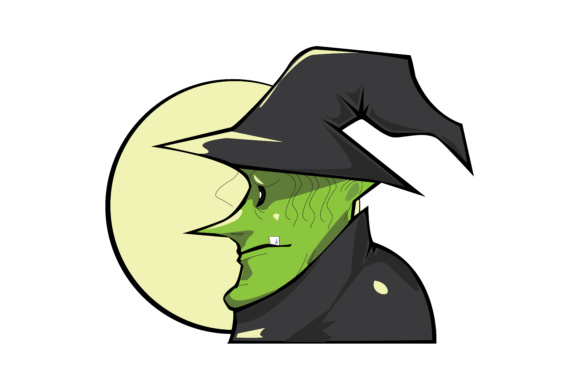 Halloween Vector Witch Graphic Illustrations By RFG