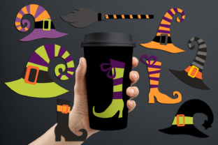 Halloween Witch Hats and Boots Graphic By Revidevi