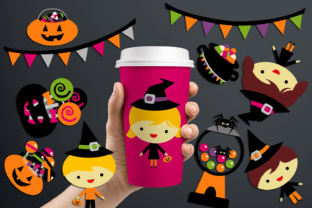 Halloween Candy Treats and Kids Graphic By Revidevi
