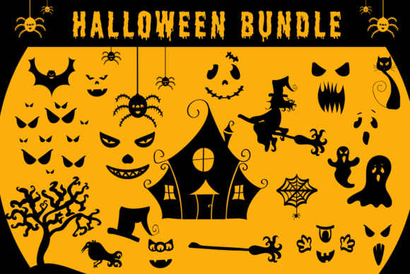 Halloween Illustration Scene Generator Grafik Illustrationen von Illustrator Guru