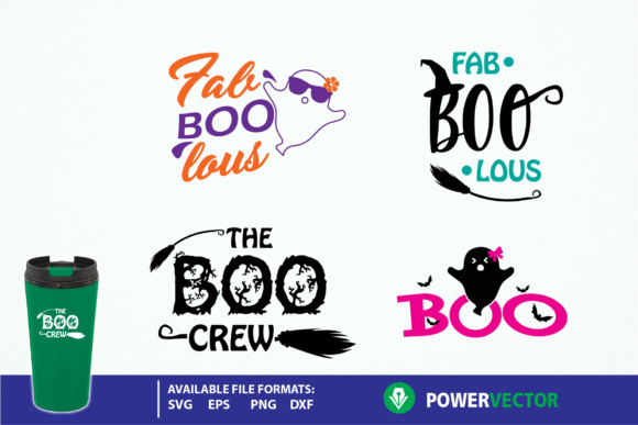 Download Free Halloween Mini Bundle Graphic By Powervector Creative Fabrica for Cricut Explore, Silhouette and other cutting machines.