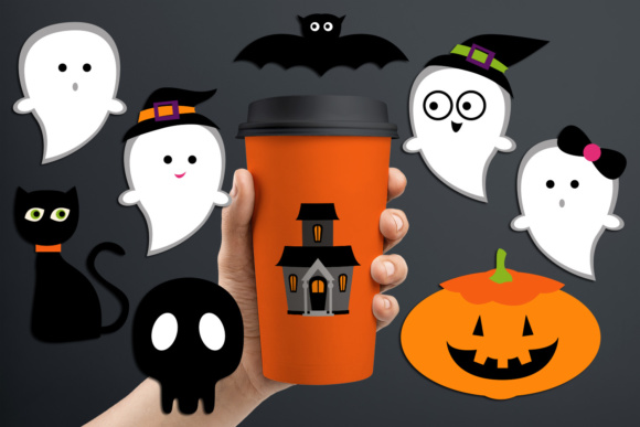Print on Demand: Halloween Night, Cute Ghost Graphic Illustrations By Revidevi
