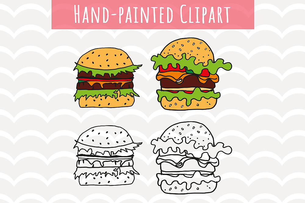 Download Free Hamburger Clip Art Graphic By Vector City Skyline Creative Fabrica for Cricut Explore, Silhouette and other cutting machines.