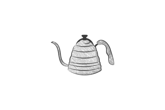 Download Free Hand Drawn Tea Pot Logo Designs Graphic By Yahyaanasatokillah for Cricut Explore, Silhouette and other cutting machines.