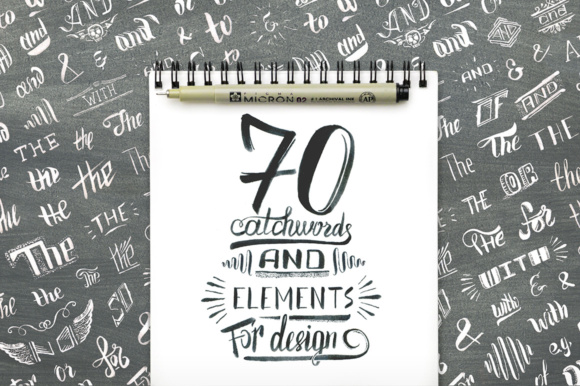 Download Free Handwritten Catchwords And Design Elements Graphic By Yurlick for Cricut Explore, Silhouette and other cutting machines.