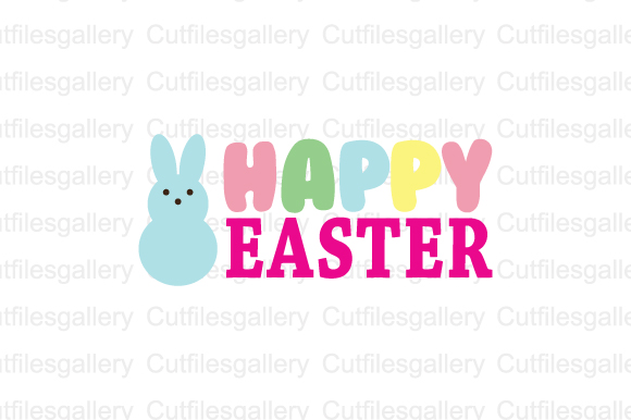Download Free Happy Easter Graphic By Cutfilesgallery Creative Fabrica for Cricut Explore, Silhouette and other cutting machines.