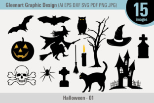 Happy Halloween - Vector Graphic Design Graphic By Gleenart Graphic Design