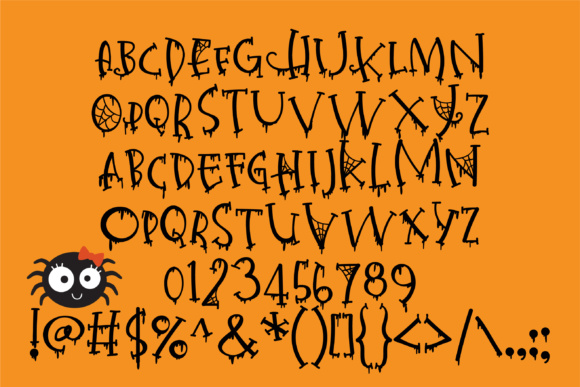 Print on Demand: Happy Haunted Holidays Serif Font By Illustration Ink - Image 3