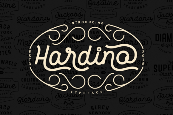 Print on Demand: Hardino Script & Handwritten Font By Keithzo (7NTypes) - Image 1