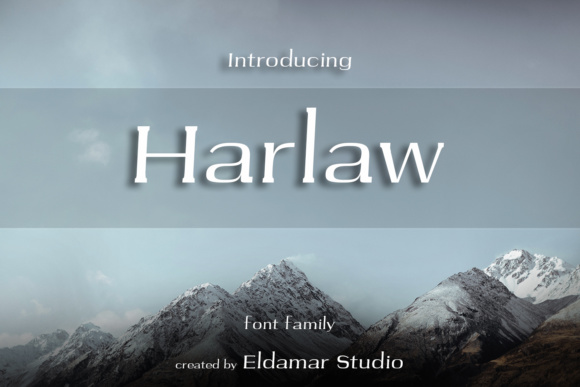 Print on Demand: Harlaw Serif Font By Eldamar Studio Fonts