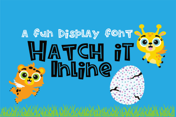 Print on Demand: Hatch It Inline Display Font By Illustration Ink
