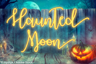Haunted Moon Font By Misti