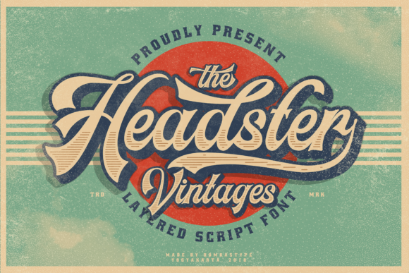 Print on Demand: Headster Family Script & Handwritten Font By bombastype