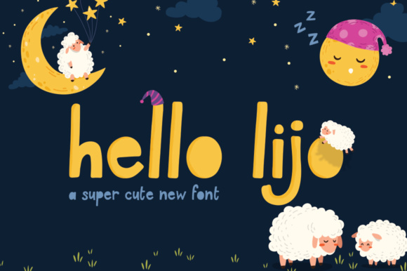 Print on Demand: Hello Lijo Display Font By Salt & Pepper Designs