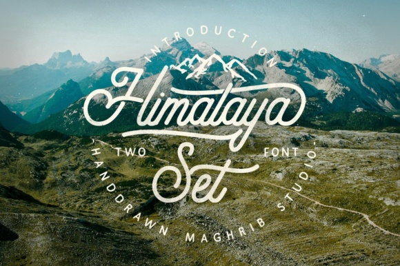 Print on Demand: Himalaya Set Script & Handwritten Font By maghrib