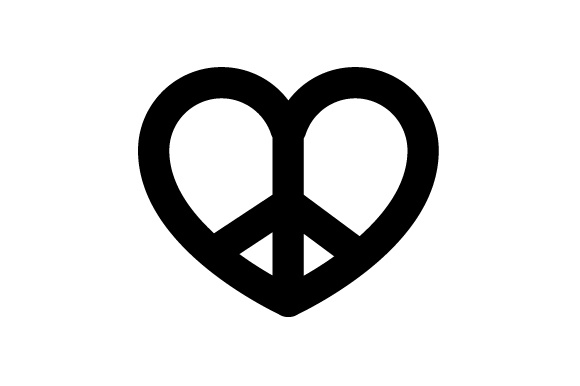 Download Free Hippie Heart Shaped Peace Sign Svg Cut File By Creative Fabrica for Cricut Explore, Silhouette and other cutting machines.