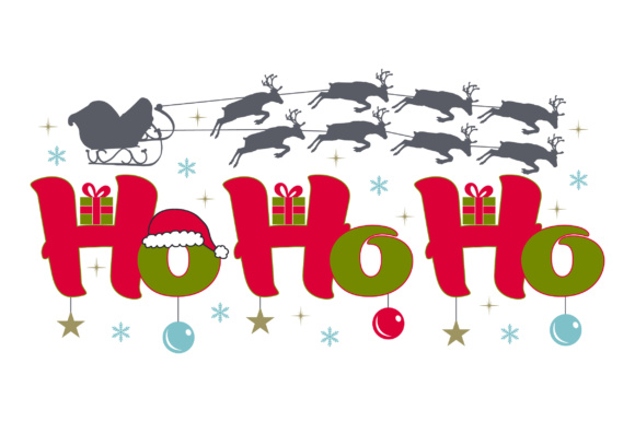 Ho Ho Ho Christmas Archivo de Corte Craft Por Creative Fabrica Crafts