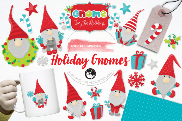 Print on Demand: Holiday Gnomes Graphic Illustrations By Prettygrafik