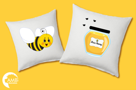 Honey Bee Clipart Graphic Illustrations By AMBillustrations - Image 3