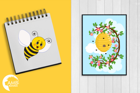 Honey Bee Clipart Graphic Illustrations By AMBillustrations - Image 5