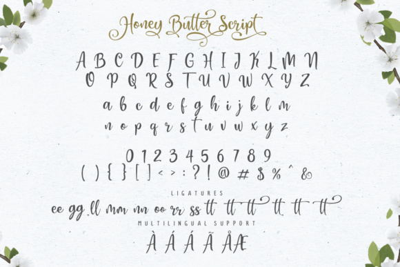 Honey Butter Trio Font Preview