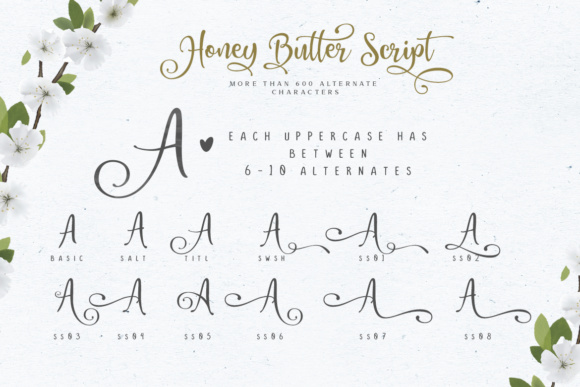 Honey Butter Trio Font Image