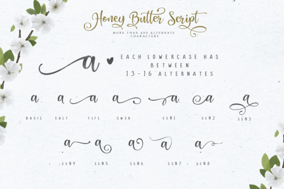 Honey Butter Trio Font By Lettersiro Co. Image 7