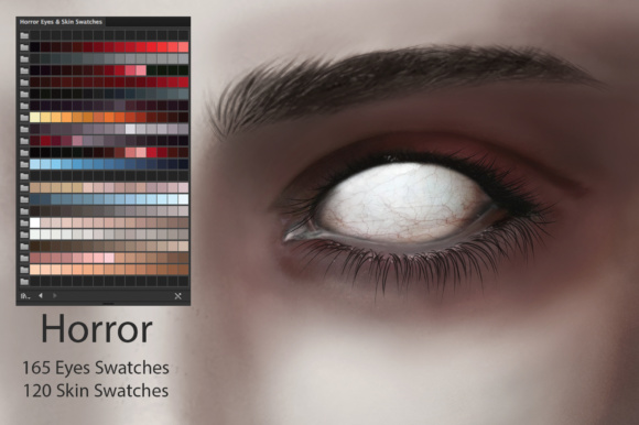 Download Free Horror Eyes Skin Ai Swatches Graphic By Faerydesign Creative for Cricut Explore, Silhouette and other cutting machines.