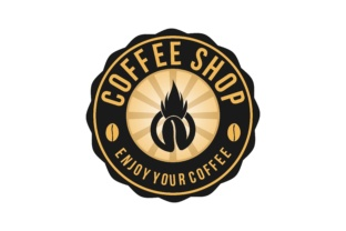 Download Free Hot Coffee Vintage Badges Logo Designs Graphic By for Cricut Explore, Silhouette and other cutting machines.