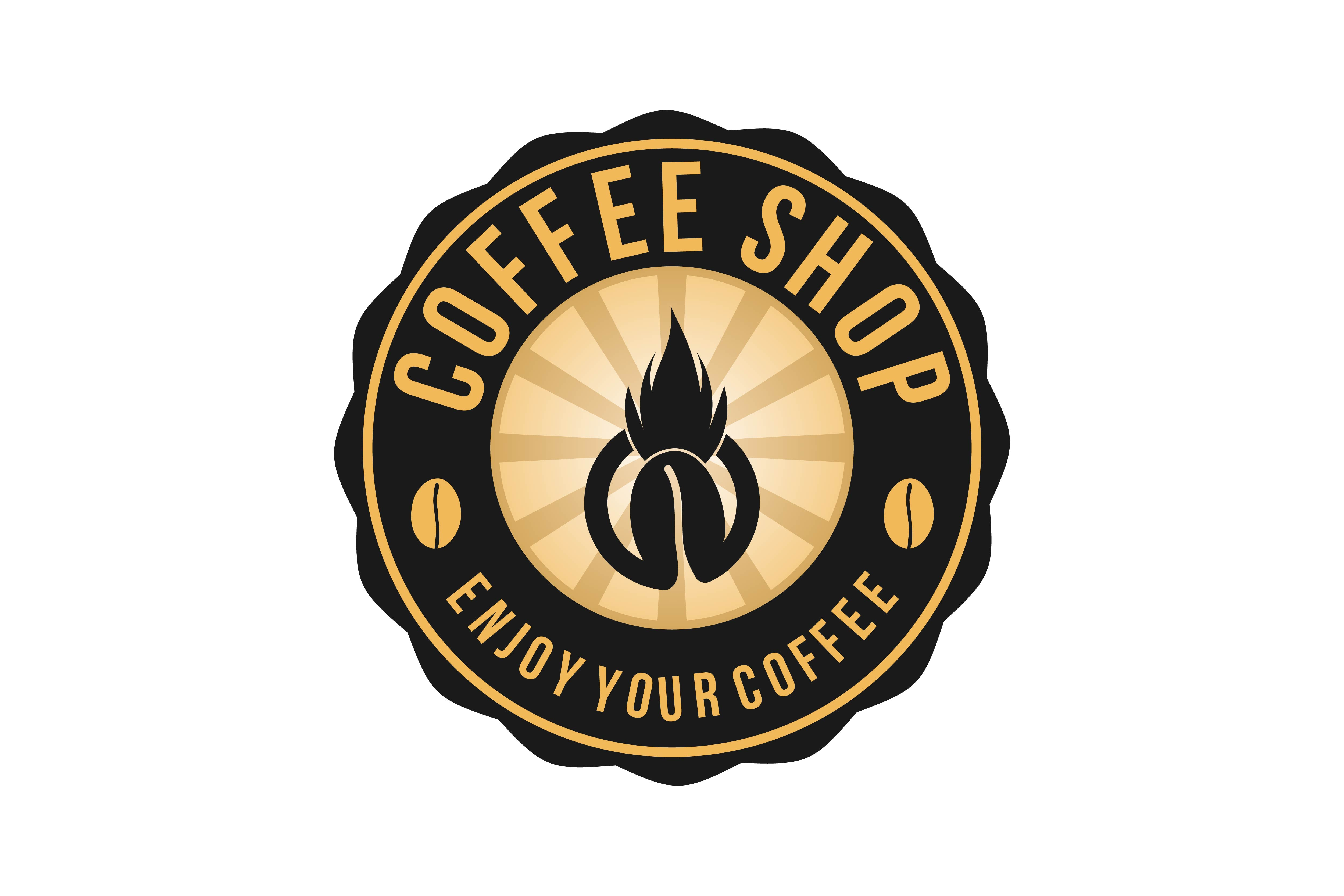 Download Free Hot Coffee Vintage Badges Logo Designs Graphic By SVG Cut Files