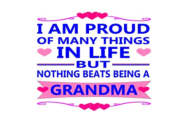Download Free I Am A Proud Grandma Graphic By Family Creations Creative Fabrica for Cricut Explore, Silhouette and other cutting machines.