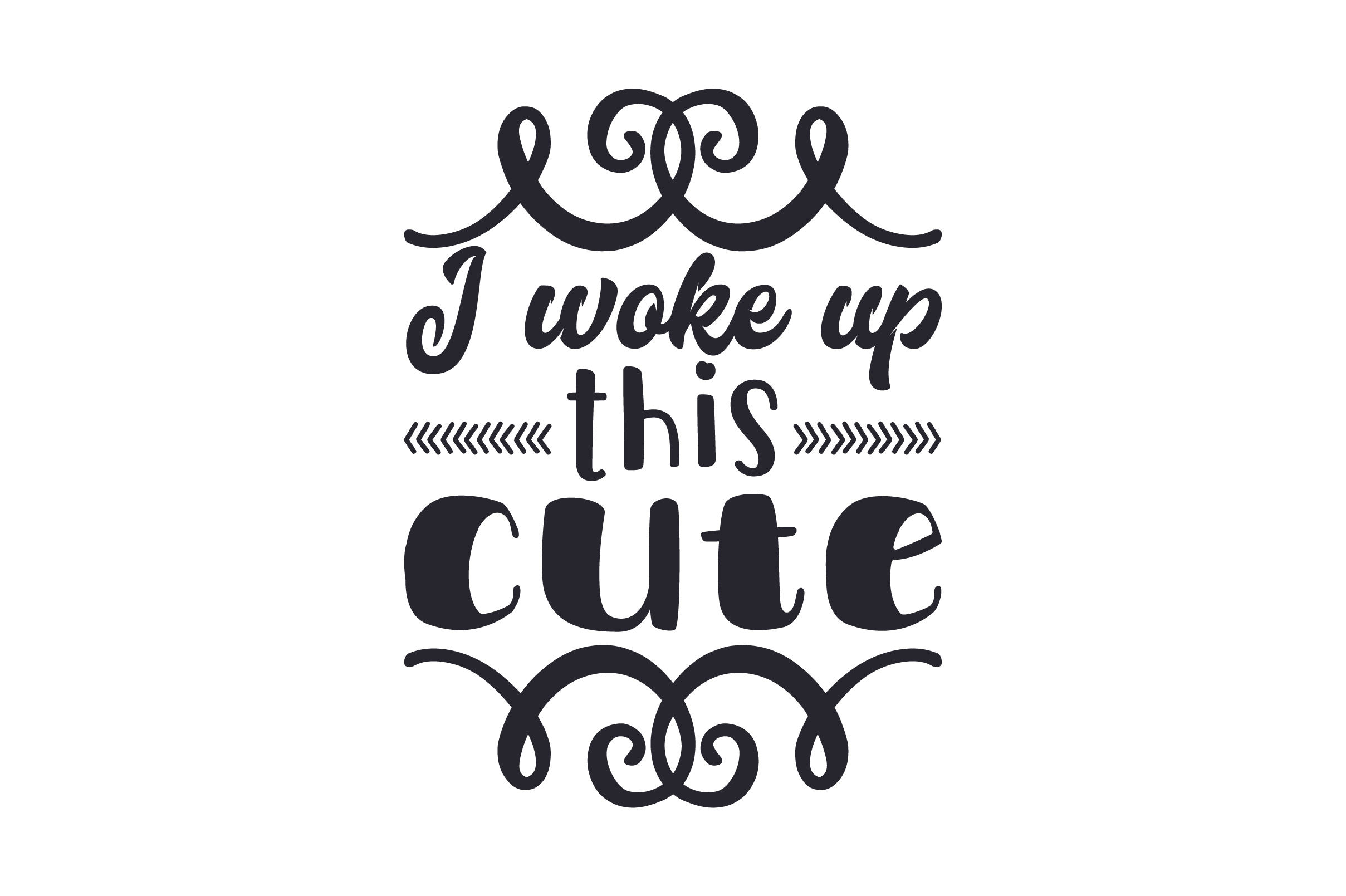 Download Free I Woke Up This Cute Svg Cut File By Creative Fabrica Crafts for Cricut Explore, Silhouette and other cutting machines.