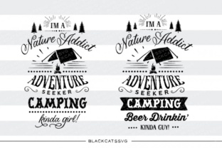 Download Free I M A Camping Kinda Girl Svg Graphic By Blackcatsmedia for Cricut Explore, Silhouette and other cutting machines.