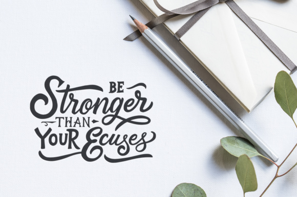 Inspirational Quotes Lettering Graphic Crafts By Weape Design - Image 3